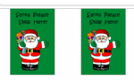 Santa Please Stop Here Christmas Bunting, rectangular, 3 metre